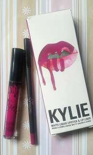 KYLIE Matte Liquid Lipstick & Lip Liner (Color : Head Over Heels)