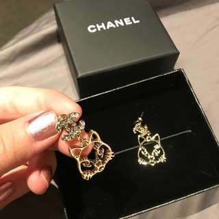 Authentic Chanel Cat Earrings