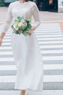 Two pieces lace wedding gown