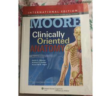 Clinically Oriented Anatomy by Moore, etal