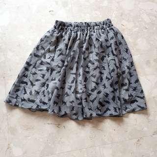 Cat Silhouette Skirt
