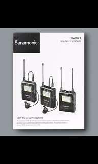 Saramonic UwMic9 TX9 + TX9 + RX9 Wireless Microphone System