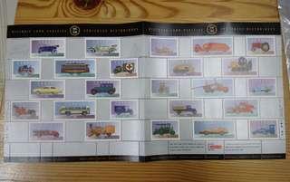 加拿大小版張 Historical land vehicles stamps uncut sheet