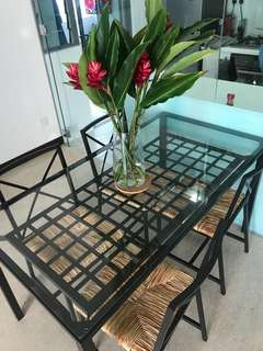 (REDUCED PRICE) Dining Table set with 4 chairs