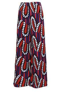 Poplook Printed Wide Legged Pants - Poplook's Grayson Geometric Filmstrip