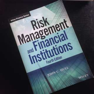 Risk management and Financial institutions Forth edition