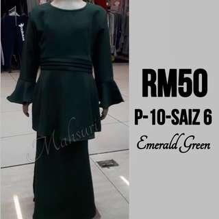 Peplum Emerald Green