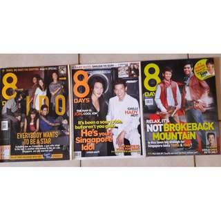 8 Days magazines  - Singapore Idol 2 issues