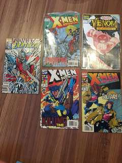 Deathlok, venom, x-men marvel comics