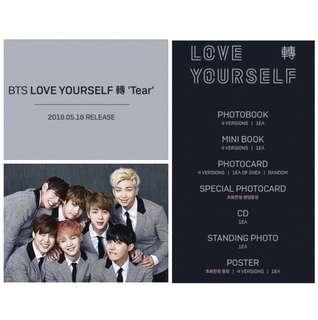 [Inc EMS] BTS - Album Vol 3 [LOVE YOURSELF 轉 'Tear']
