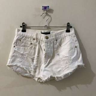 Forever 21 White Denim.Shorts