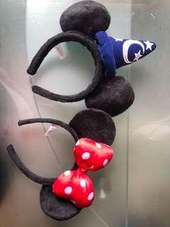迪士尼 米奇米妮 頭箍 $180/2個