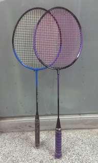 2 Badminton Rackets 羽毛球拍一對 - 75 % new