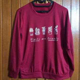 Plants are friends - sweater (marron)