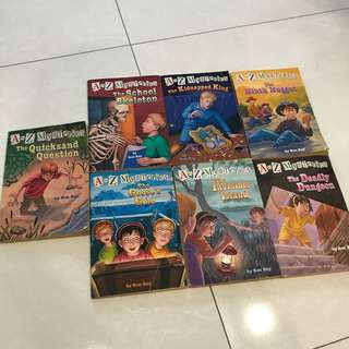7 copies A to Z Mysteries Books