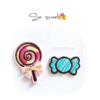 Bn sweet/lollipop iron on patch