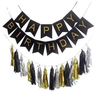 Happy Birthday Bunting with Tassel