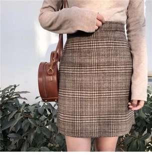 格紋半身裙