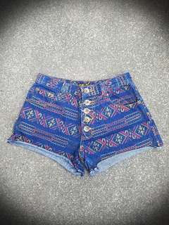 Aztec Mini Shorts