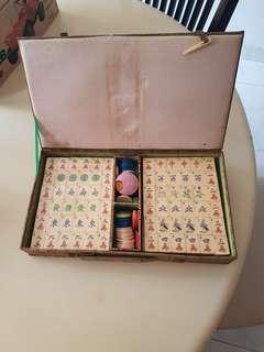 Ivory mahjong . Old new stock