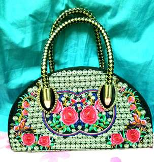 Embroidered hand bag from thailand