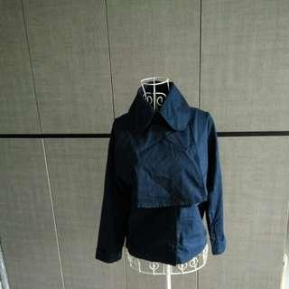 Designer coat alike shirt in navy blue