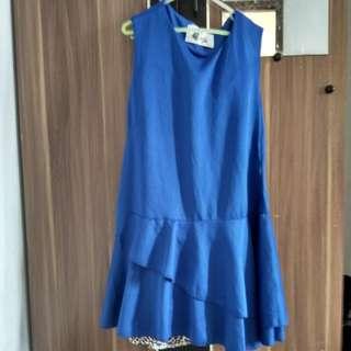 Dress biru, dress pesta, dress