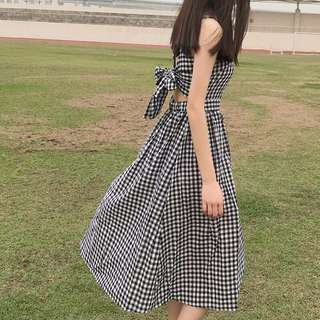 Gingham Cutout Dress