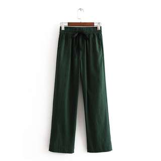 🔥Europe and US Loose Bow Decorated Casual Pants Trousers