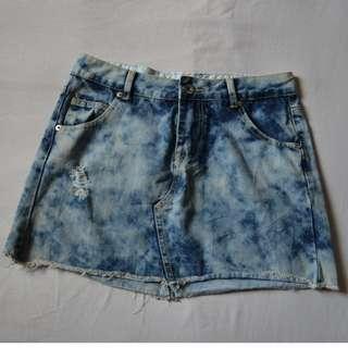 Retro Girl Denim Mini Skirt