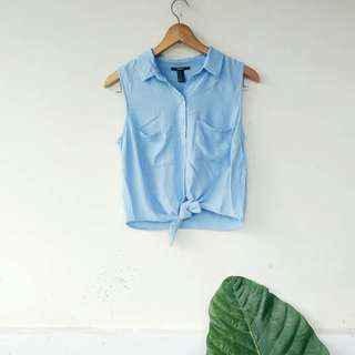 Forever 21 Blue Top