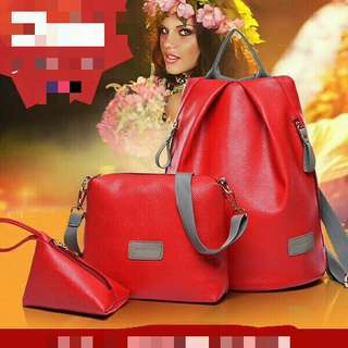 chic woman handbags 3 in 1