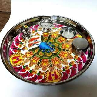 Puja thaali Tray for prayer temple