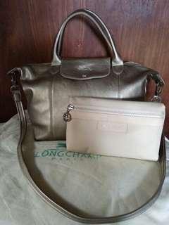 Reprice!! Longchamp gold free pouch (NBU), mirror 1:1