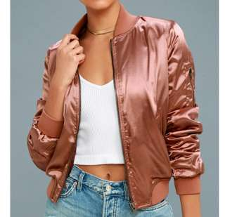 CLEARING Satin Bomber Jacket
