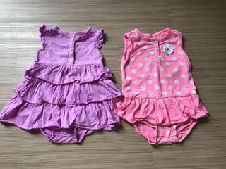 PL Carter's Baby Girl Rompers (18-24M)