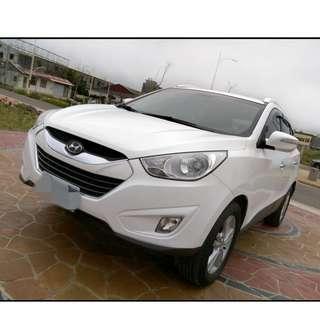 2011年 IX35白色2.4  4WD  大桃園優質二手中古車買賣