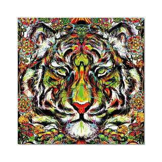 Tiger Colorful Acrylic Print 1 Piece