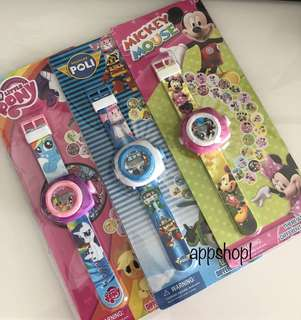 Watch with projector images- goodies bag, door gift, goody bag packages