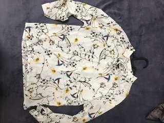 🚚 紡紗花紋立領襯衫