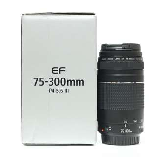Canon EF 75-300mm f4-5.6 III Lens (With 2 Years Canon Malaysia Warranty)