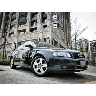 全額貸。2003年 奧迪 A4 黑 2.0L 小白信用不良皆可貸 可履約保證無重大事故泡水非營業用車