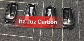 (Ready stock)Mitsubishi EVO 9/CS3 Carbon inner door handle