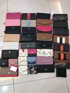 (Ready Stock 22/4/18) Original Coach women Wallet
