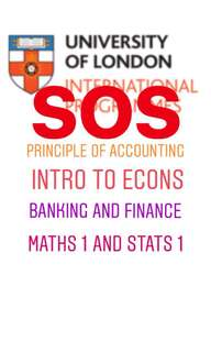 SPECIAL PRICE FOR SIM UOL POA BANKING FINANCE INTRO TO ECONS