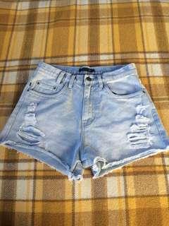 rusty ripped denim shorts