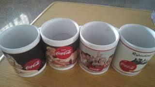 Coca Cola Mugs 4pcs