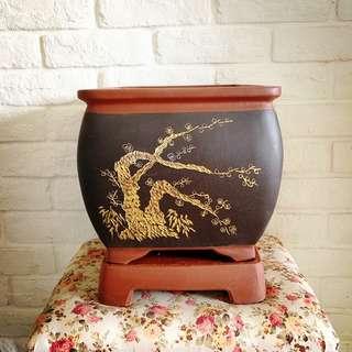 Square Bonsai pot                                             31.5cm (w) X 22.5cm(h)