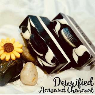 🌸Organic Soaps with Benefits - Detoxified Activated Charcoal