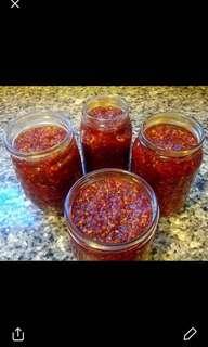 Home made chilli garlic